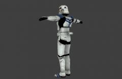 Stormtrooper Commander Screen Capture 45RightBack